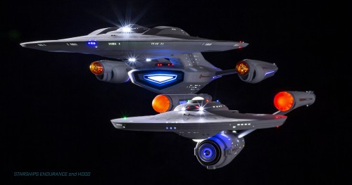 Starships Endurance and Hood - 1/350 scale
